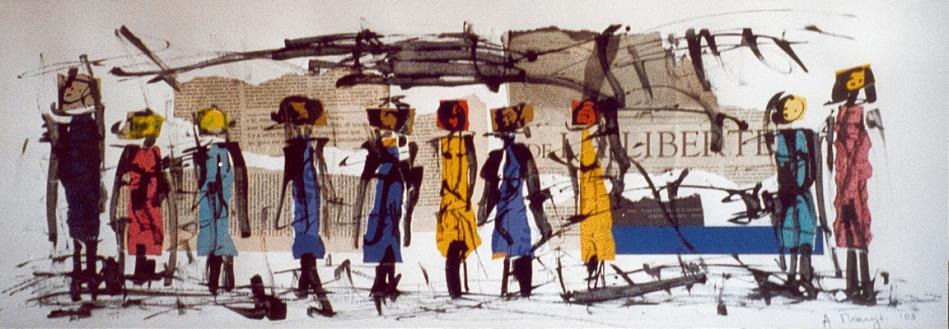 filles-liberte-2003,-collage,-encre-de-chine-sur-papier-vinci-80-x-30-cm