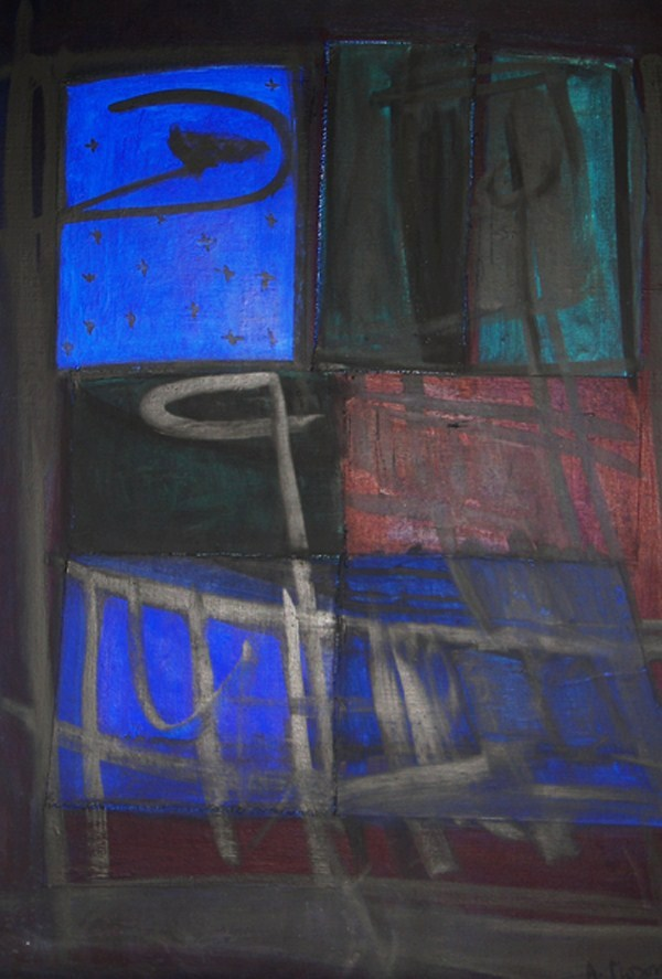 galler-collecxtion-night-window-1997-2000-huile-sur-toile-100-x-81-cm
