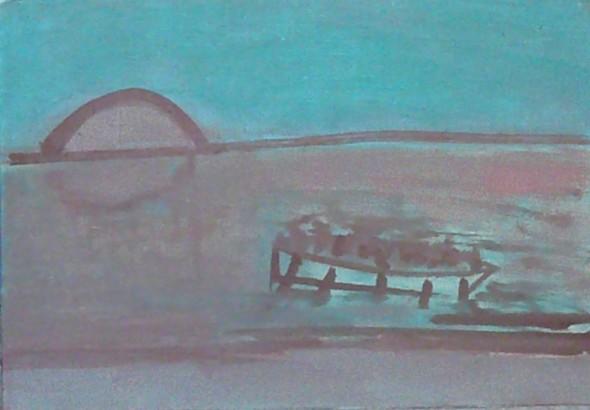 exodus 2014 oil on canvas 41 x 27 cm