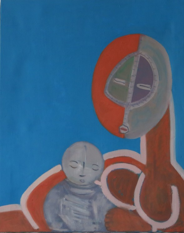 mother & babe 2015 oil 81 x 65cm