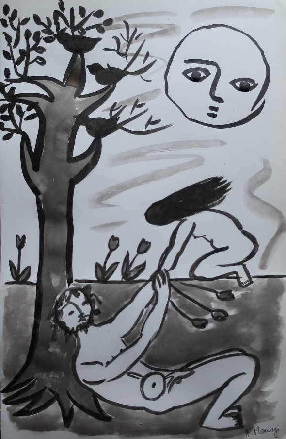 persephone 2020 chinese inkwash on vinci paper 50 x 32,5 cm (2)