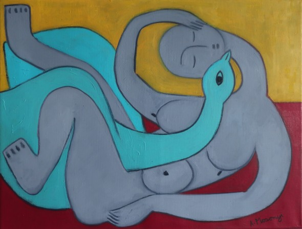 chanson d'amour 2020 oil 50 x 65 cm