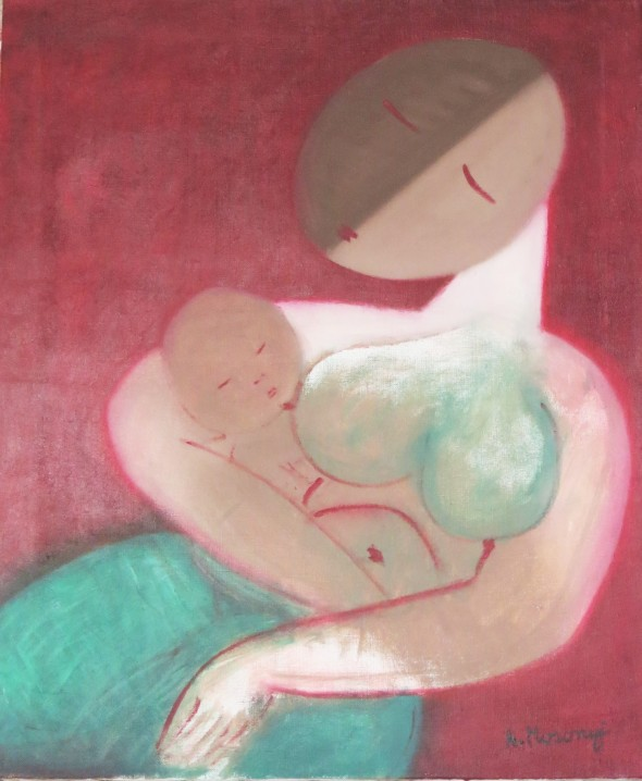 MB4 mosonyi collection mother & babe 2015 huile sur toile 65 x 54cm