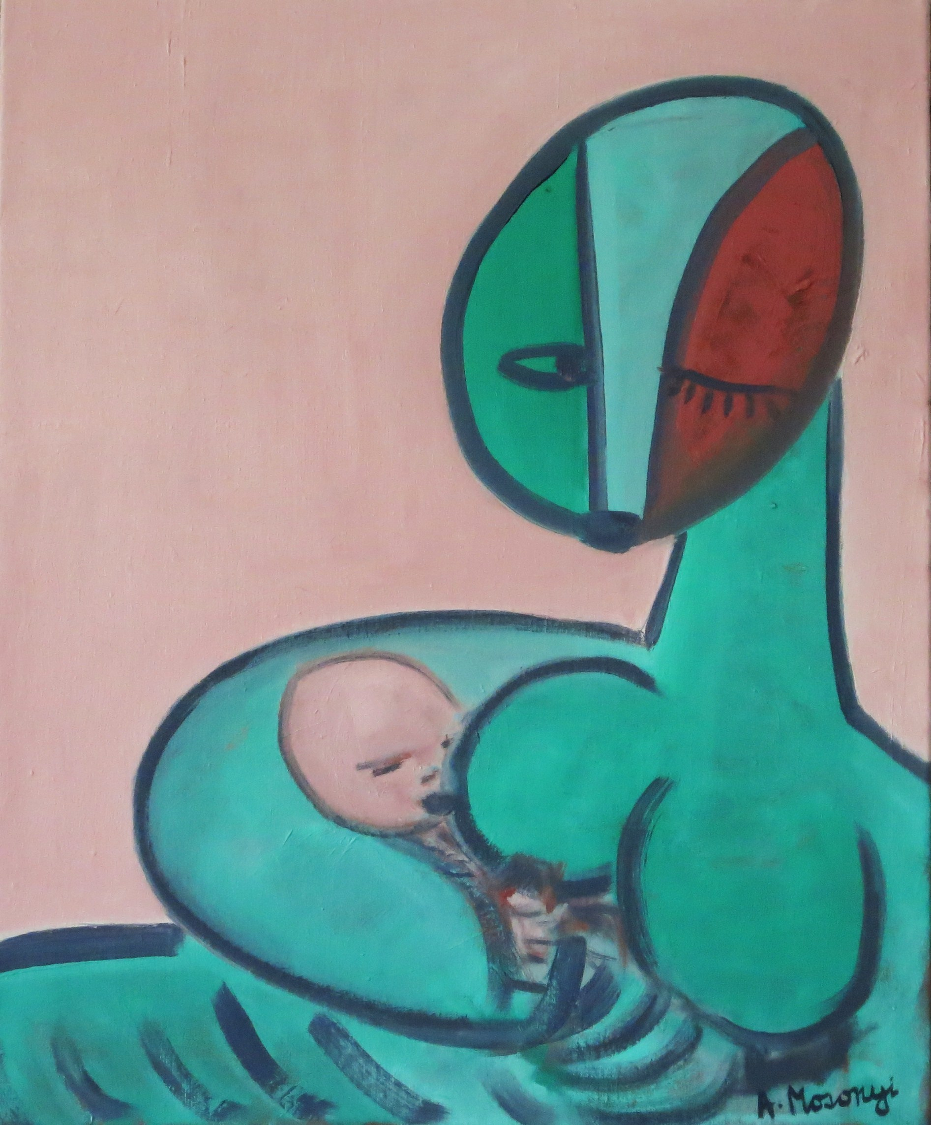 MB1 mother & babe 2013 huile sur toile 73 x 60 cm